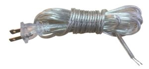 8 Feet Flat Plug Replacement Lamp Cords, Replacement Lamp Cord With Flat Plug