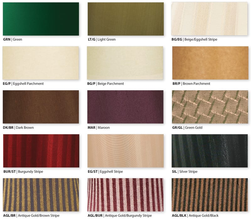 lamp shade fabric swatches